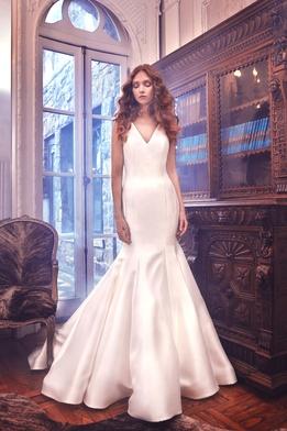 Sareh Nouri Spring 2018 bridal collection Mercer wedding dress v neck trumpet dress
