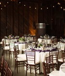 Lyndsy Fonseca and Noah Bean wedding ceremony vineyard wedding reception setting wood walls white