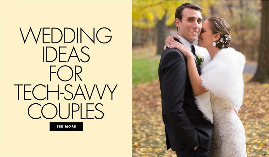 Wedding ideas for tech savvy couples