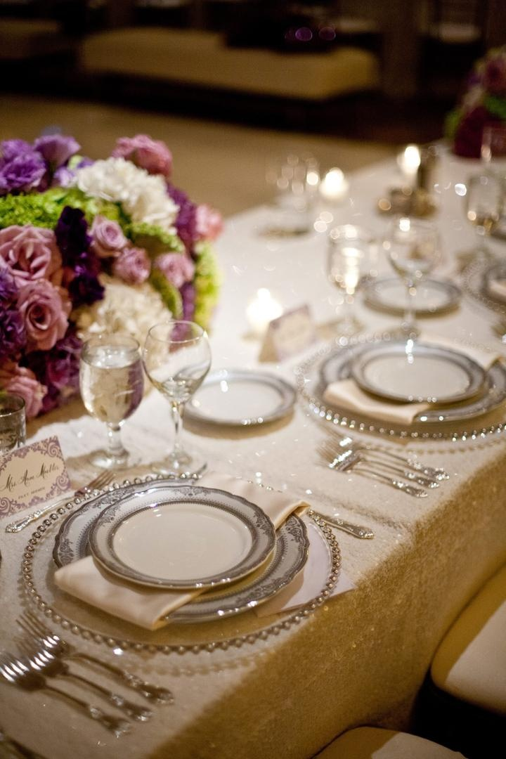 Reception D 233 Cor Photos Silver Rimmed Place Setting