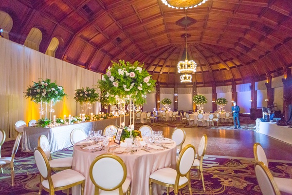 reception space light linens wooden dance floor hotel del coronado wedding reception ballroom simple