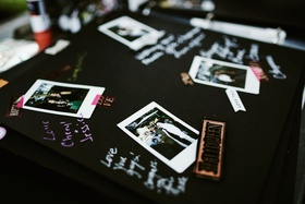 wedding guest book polaroid pictures with well wishes