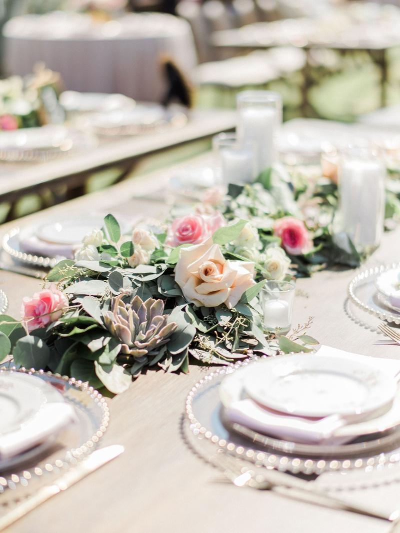 wedding reception succulent greenery candle votive blush pink rose flowers megan nicole youtube