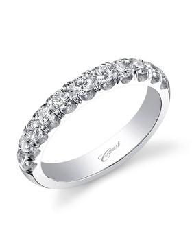 Charisma collection diamond band in white gold