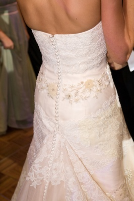 Vera Wang button down bridal gown