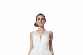 French lace V-neck Camille dress by Olia Zavozina Spring 2016
