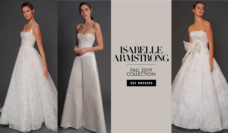 Isabelle Armstrong fall 2019 bridal collection wedding dress bridal fashion week