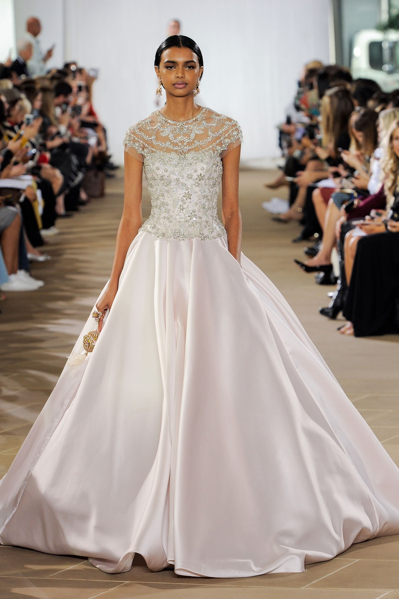 Ines Di Santo fall 2019 bridal collection wedding dress Celeste ball gown with pockets blush silk