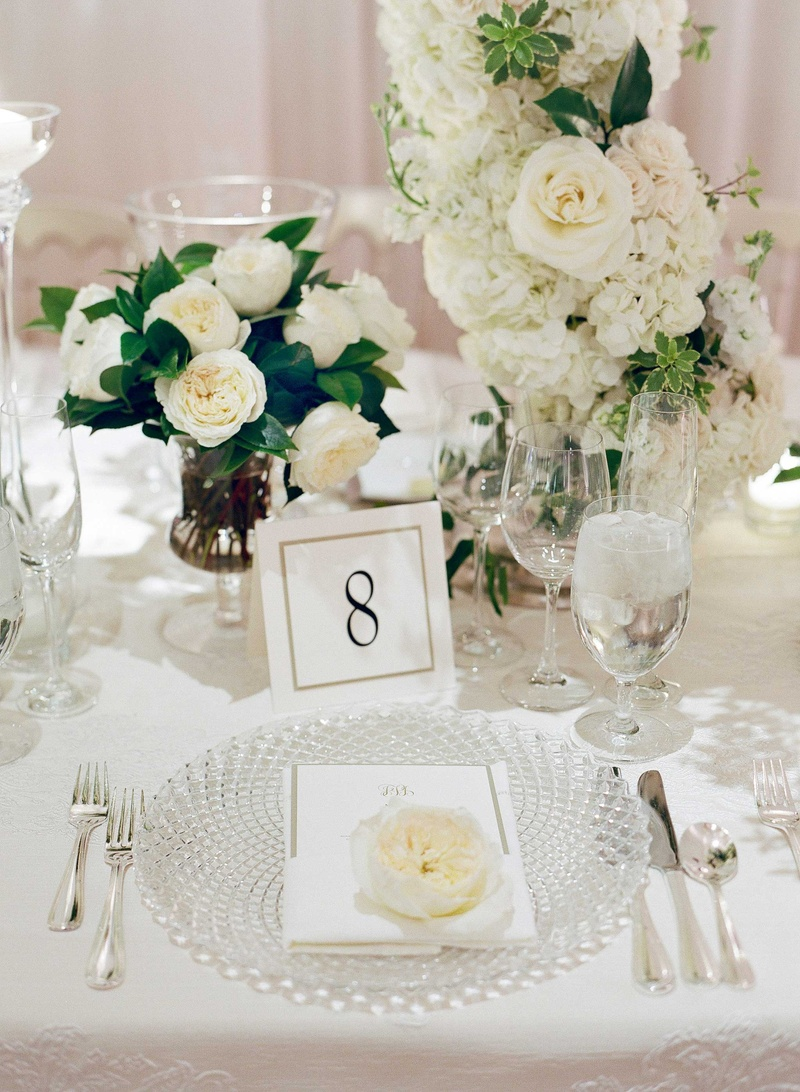 Reception Décor Photos - Sophisticated Crystal Charger Plate ...