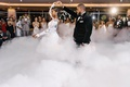 wedding reception first dance cloud of smoke romantic effect dry ice machine