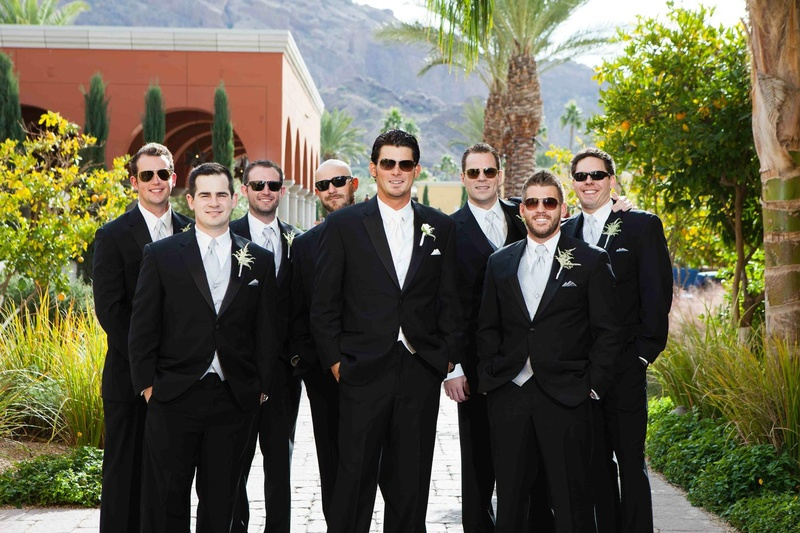 Major League Baseball player on wedding day