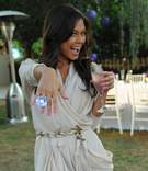 Vanessa Minnillo poses with oversize ring