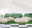 tented reception checkered dance floor chandelier south carolina wedding outdoor classic gold