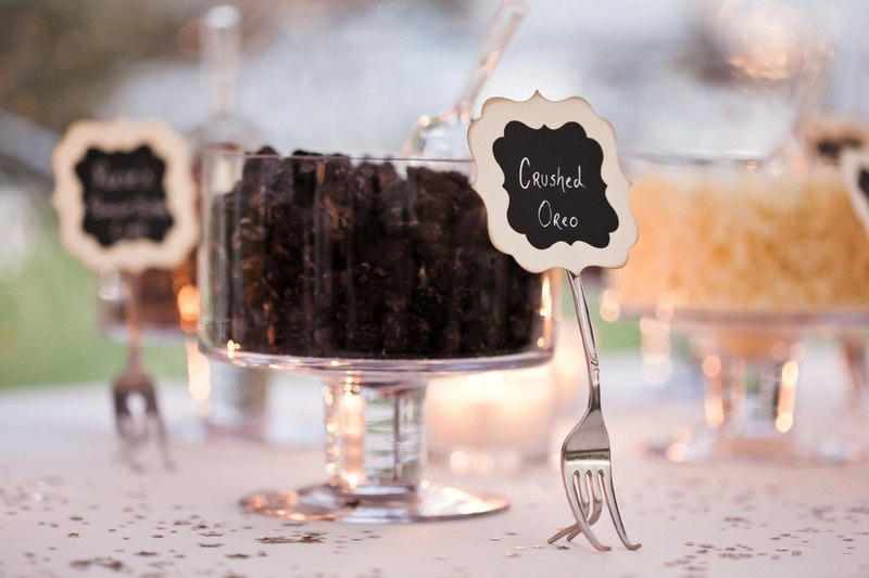 Make your own candy apple station at wedding reception