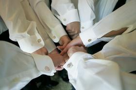 Matching groomsmen cuff links