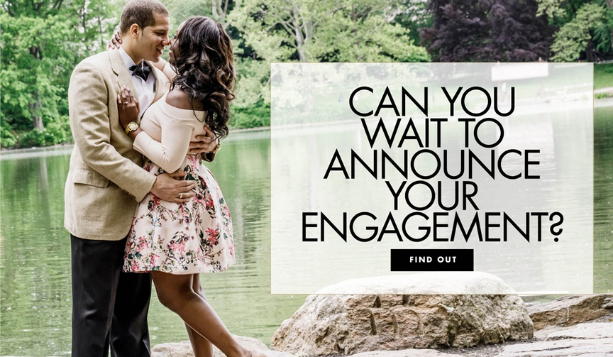should you announce your engagement right away or can you wait to announce the news