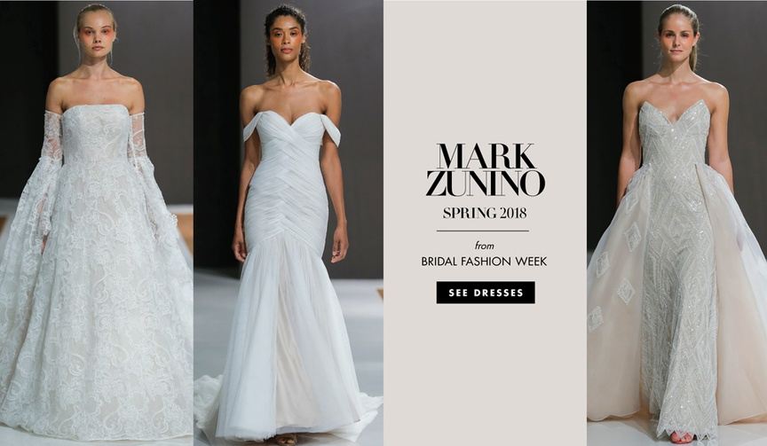 Mark Zunino Spring 2018 wedding dress bridal gown bridal fashion week