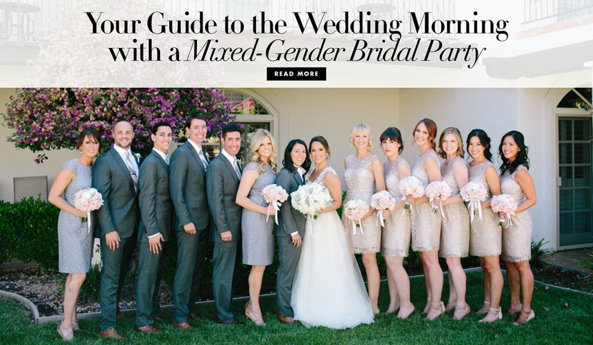 Your guide to wedding morning with a mixed gender bridal party
