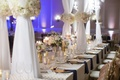 long table white detailed linen sheer structure north carolina wedding head table navy gold