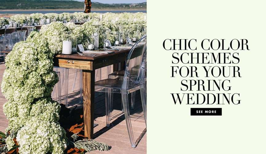 Chic color schemes for your spring wedding ceremony and reception ideas