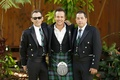 Angus Mitchell, co-owner of John Mitchell Systems, in a kilt and his groomsmen