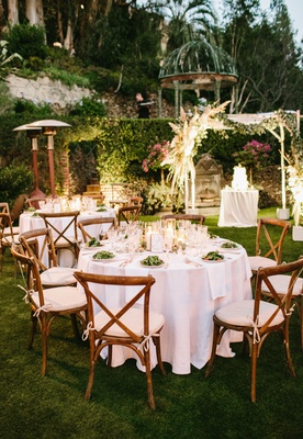 wedding reception outdoor venue the houdini estate wood vineyard chairs vegetarian dinner cake