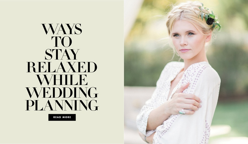 ways to stay relaxed while wedding planning shop products