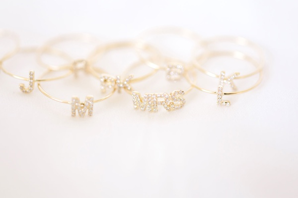 Wedding gift for bridesmaids mrs ring and initial monogram rings for bridesmaids