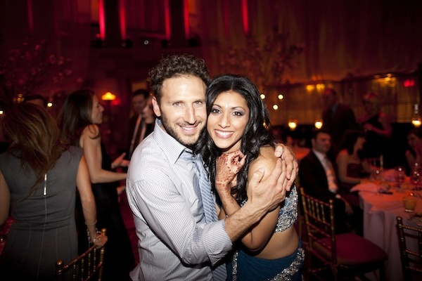 Actress Reshma Shetty with Actor Mark Feuerstein at her wedding reception