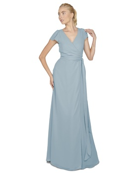 With its simple cap sleeves, the Aurele wrap dress is elegant and glamorous- perfect for your walk d