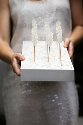 White sugar candy sticks