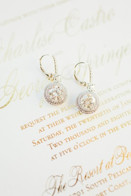 Wedding invitation charlise castro and george springer wedding jewelry earrings diamond round