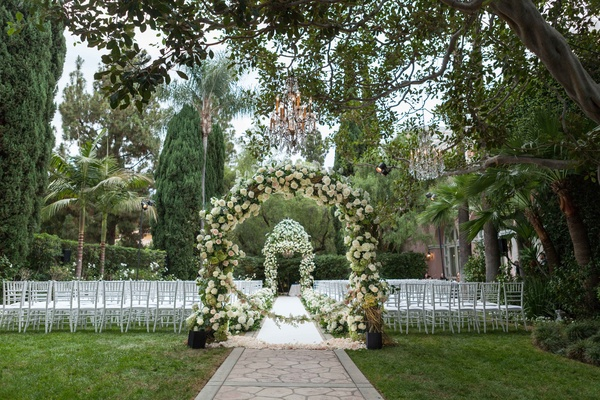 Outdoor Jewish Wedding Ceremony + Glam Reception In