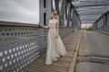 Limor Rosen 2017 Diana wedding dress beaded lace crop top with full silk organza skirt
