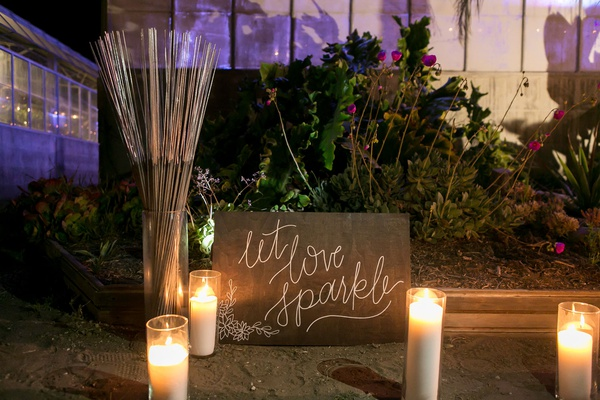 wedding reception evening sparkler exit outdoor send off ideas candles in hurricanes sparklers