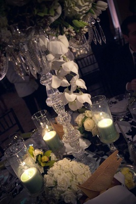 Wedding centerpiece crystal glass candleholder