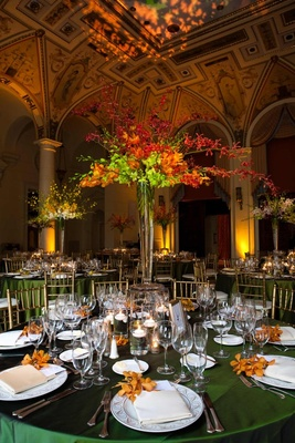 The Breakers ballroom with vibrant reception decorations