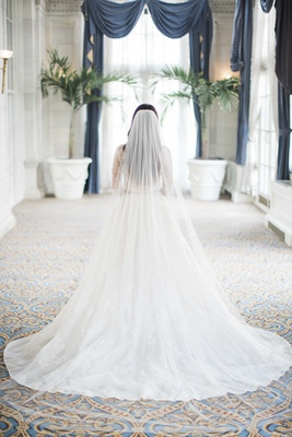 monique lhuillier plain catherdral veil, monique lhuillier lace a-line wedding dress