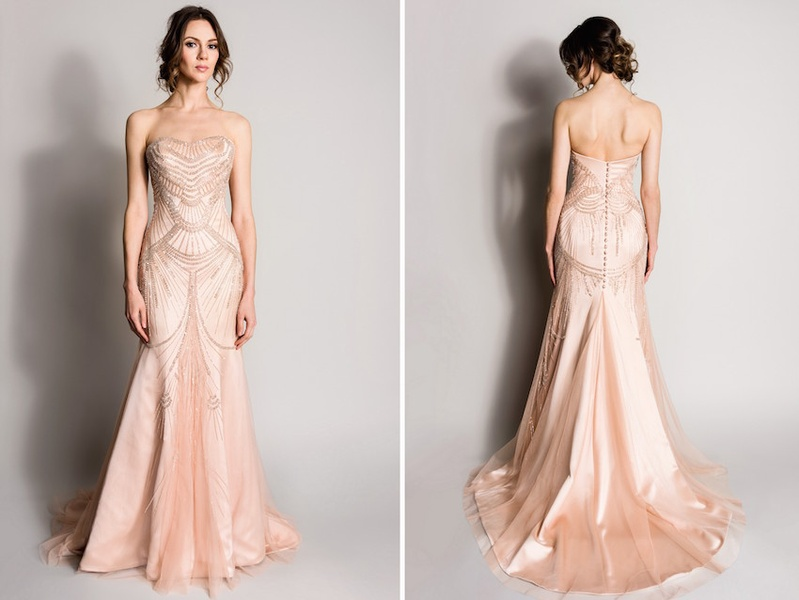 Wedding dresses photos blush by suzanne neville inside weddings blush pink strapless wedding dress by suzanne neville junglespirit Image collections