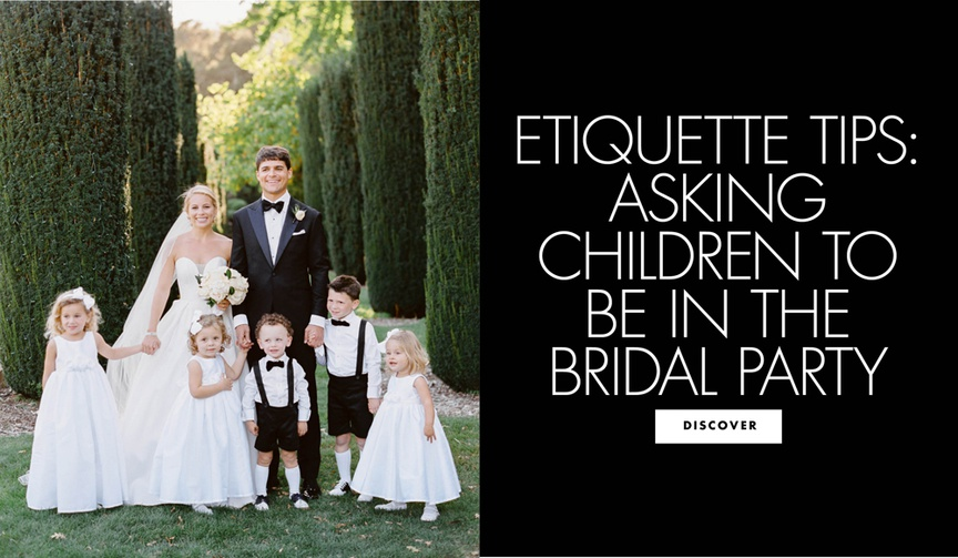 etiquette tips asking children to be in the bridal party wedding advice