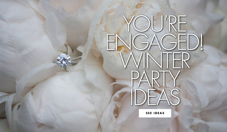 tips for throwing a winter engagement party