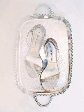 wedding accessories stuart weitzman wedding shoes bridal heels silver glitter sandals ankle strap