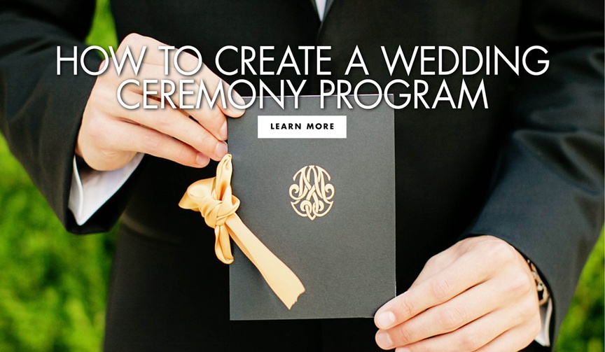 how to create wedding ceremony programs, your guide to wedding ceremony programs