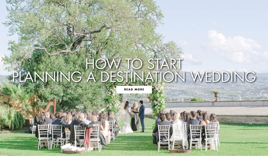 How to start planning a destination wedding ceremony and reception