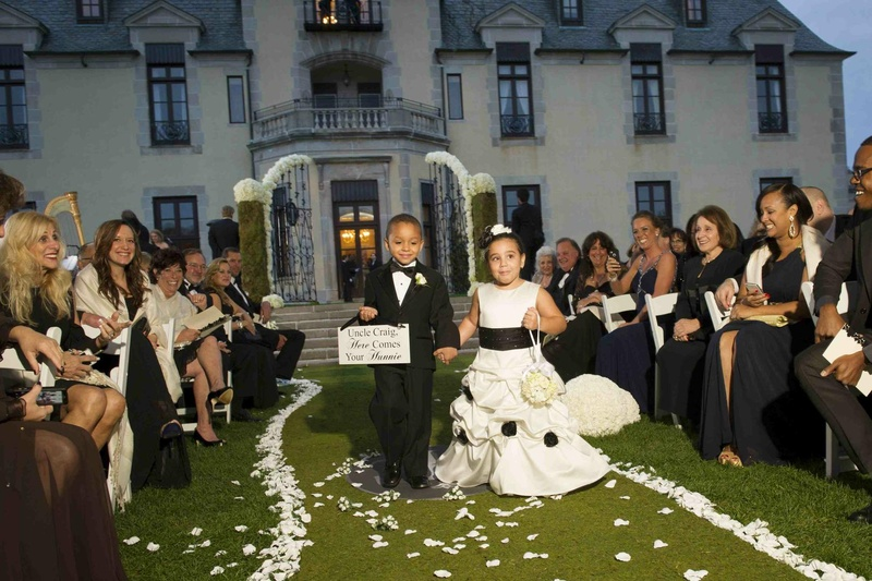 Flower Girls & Ring Bearers Photos - Outdoor Ceremony Processional ...