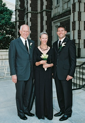 Man in tuxedo with mother-of-the-groom
