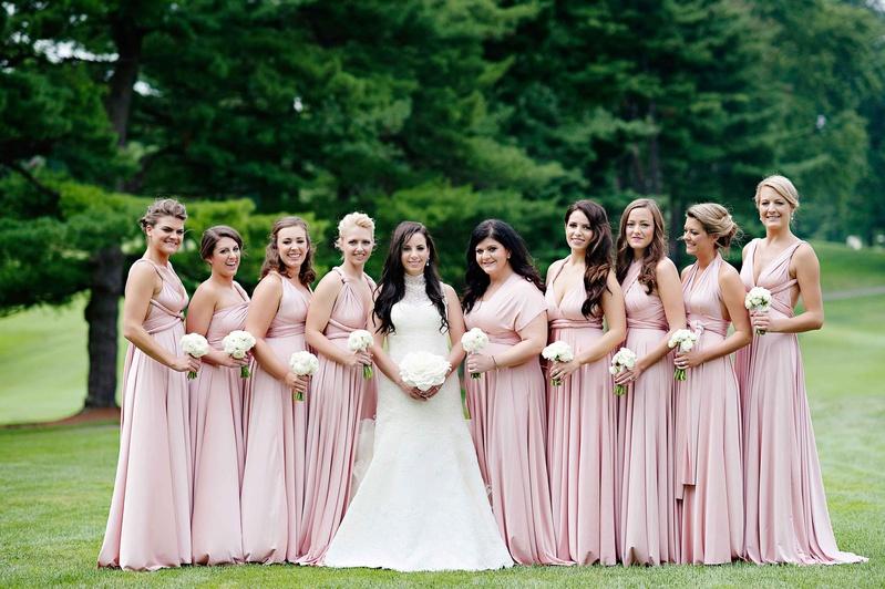 5d022202f220 Brides & Bridesmaids Photos - Pale Pink Mismatched Bridesmaid ...