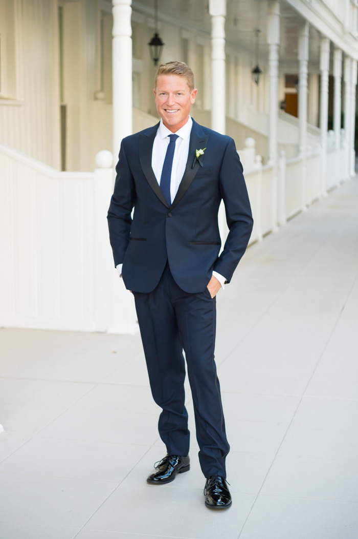 Grooms & Groomsmen Photos - Groom, Smiling, Navy Blue Suit - Inside ...