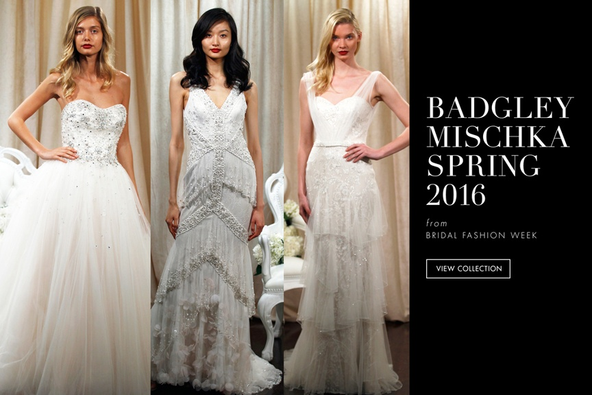 badgley mischka spring 2016 bridal collection