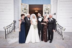 Keri Lynn Pratt and husband with parents at wedding